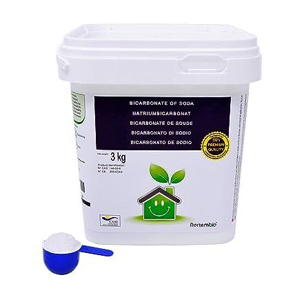 NortemBio Bicarbonato de Sodio 3 Kg, Insumo Ecológico de Origen Natural, Libre de Aluminio