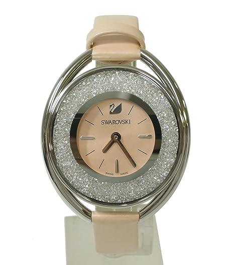 Swarovski Reloj analogico para Mujer de Cuarzo con Correa en Piel 5158546: Amazon.es: Relojes