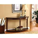 Wood Dark Cherry Hallway Accent Sofa / Console Table