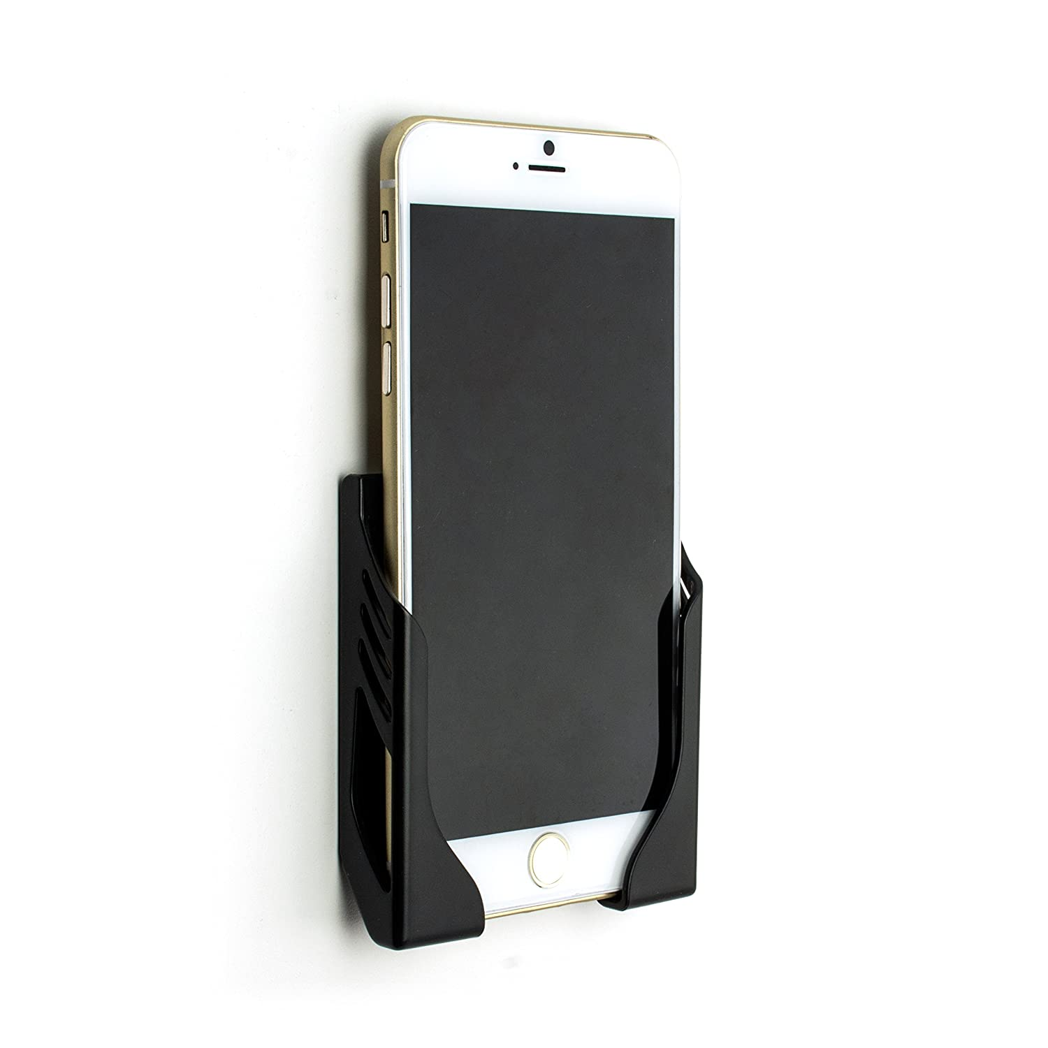 buy online b83ee 7f2a0 Damage-Free Wall Mount for iPhone Xs, XS Max, XR, iPhone X, iPhone 8, 7,  6S, 6, iPhone 8 Plus, 7 Plus, 6 Plus, 6S Plus with 3M Command Strip ...