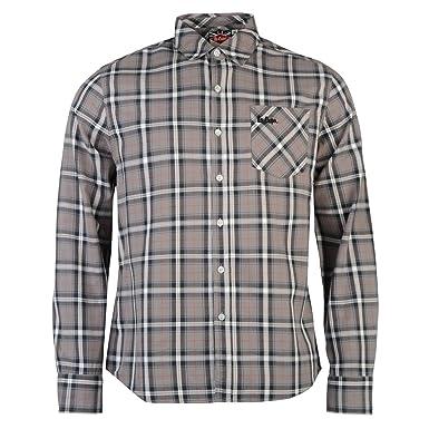 Lee Cooper - Camisa Casual - para Hombre Gris Small: Amazon.es: Ropa y accesorios