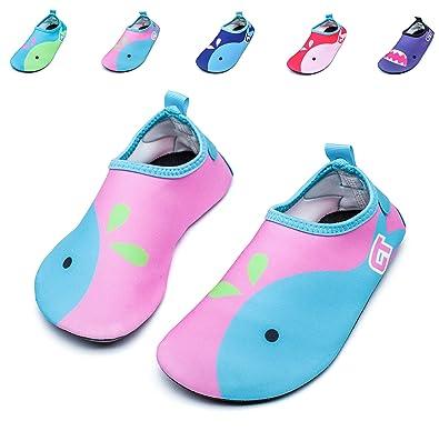 Fidus Kids Swim Water Shoes Barefoot Quick-Dry Skin Aqua Socks for Beach  Pool Surf