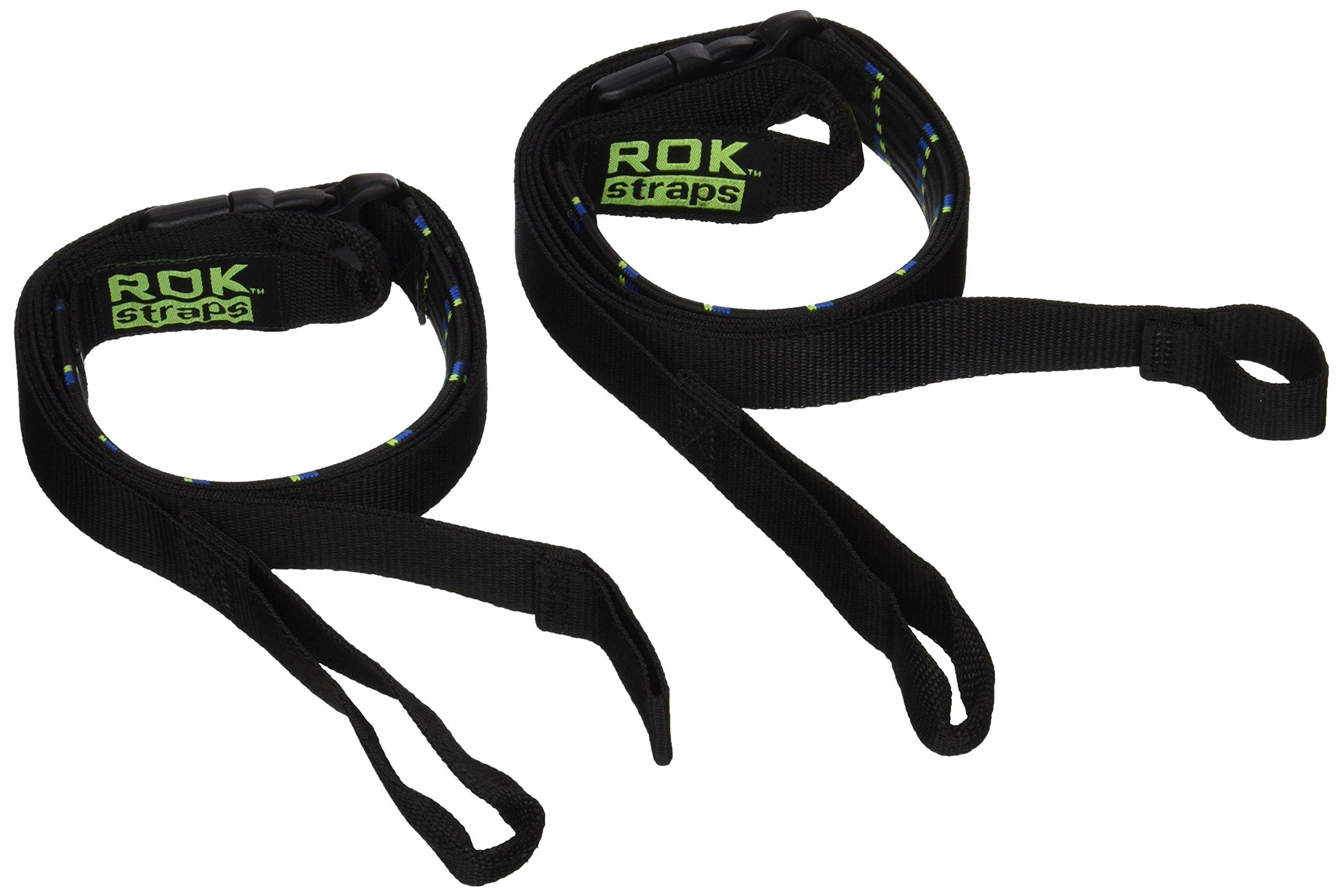 ROK Straps ROK-10001 Moto Plaid Black/Blue/Green 18''-60'' Motorcycle/ATV Adjustable Stretch Strap
