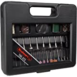 Rotary Tool Accessories Kit – 100 Piece Multifunction Attachment Carry Case for Engraving, Woodworking, Metalworking and Hobbies