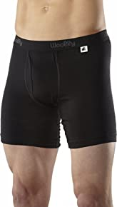 Woolly Clothing Men's Merino Long Drop Boxer Brief - Moisture Wicking, Anti-Odor, Casual Athletic wear