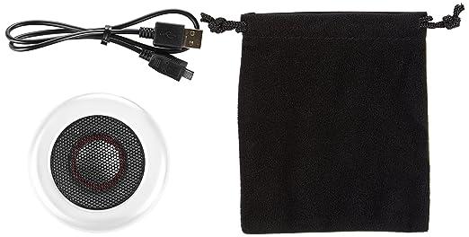 AmazonBasics - Microaltavoz portátil con Bluetooth, color blanco