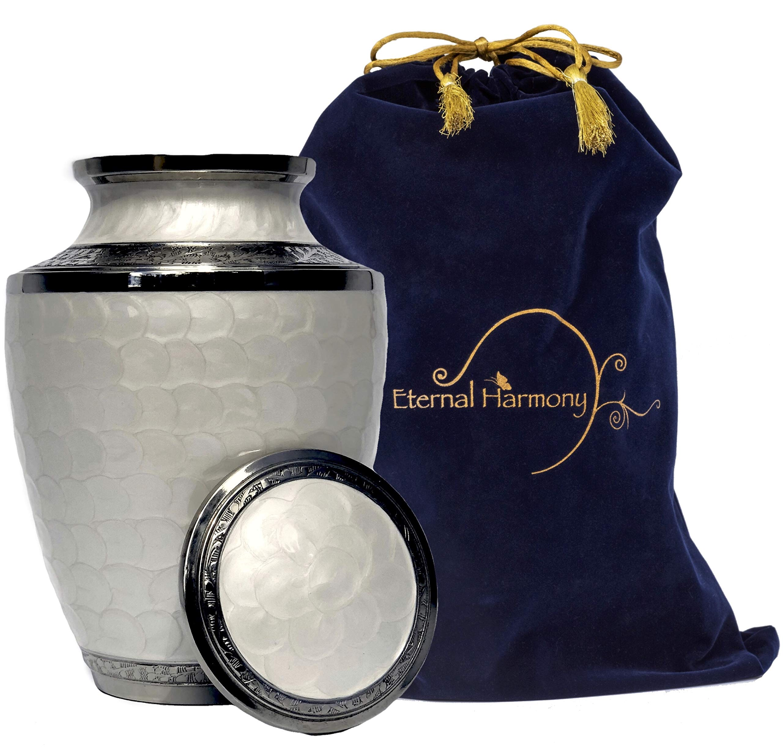 Eternal Harmony Cremation Urn for Human Ashes | Funeral Urn Carefully Handcrafted with Elegant Finishes to Honor and Remember Your Loved One | Adult Urn Large Size with Beautiful Velvet Bag by Eternal Harmony (Image #3)