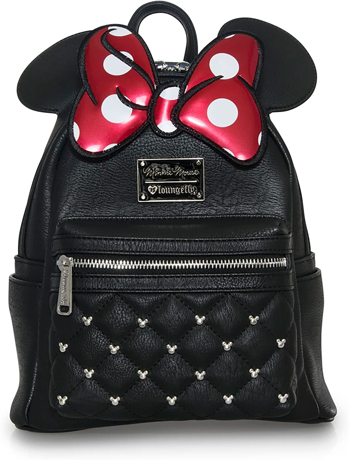 Loungefly Disney Minnie Mouse Quilted Bow Crossbody Bag NEW IN STOCK