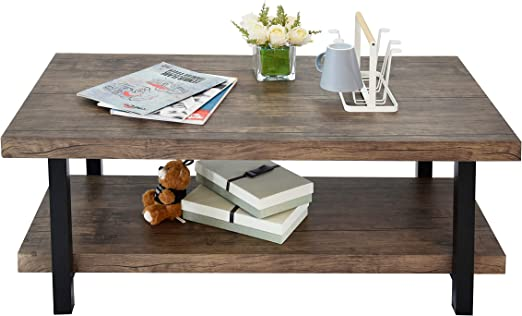 Amazon Com Charahome Coffee Table Rustic Vintage Industrial