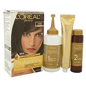 L'Oreal Superior Preference Permanent Hair Color, 5 Medium Brown 1 ea
