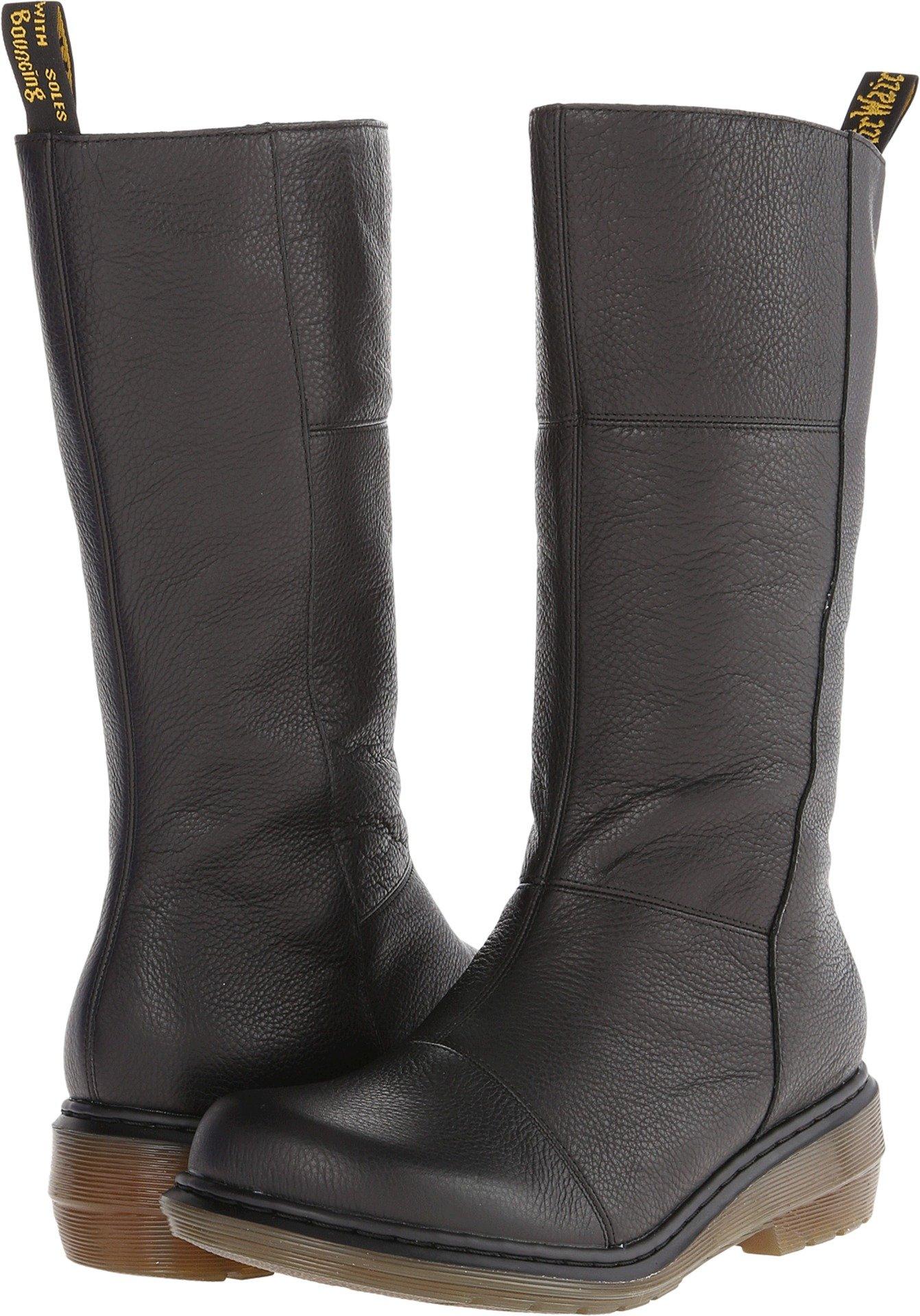 Dr. Martens Women's Charla Tall Zip Boot,Black Broadway,9 UK/11 M US