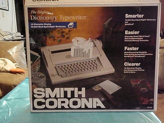 Smith Corona - Procesador máquina de escribir modelo na3hh: Amazon.es: Electrónica