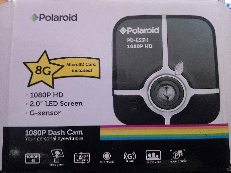 Hyper Microsystems PDE53HBK8 Polaroid PD-E53H Dashcam Black 8gb