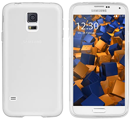 mumbi Schutzhülle Samsung Galaxy S5 / S5 Neo Hülle transparent weiss
