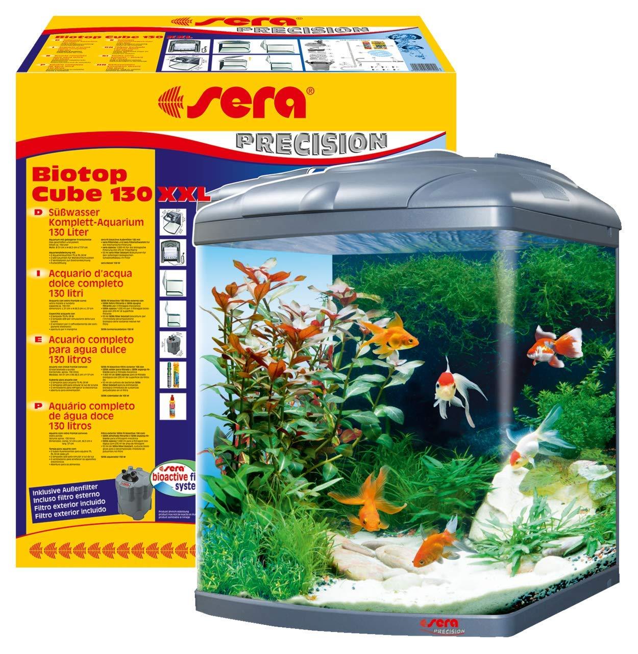 Sera 31150 Mondi Biotop Cube 130 XXL un 130 L Agua Dulce de Acuario ...