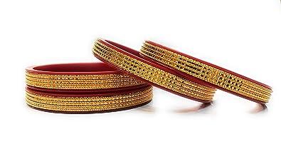 1024dcbc3b7 Priya Kangan Traditional Fancy Designer Casual Party Hand Work One Gram  Golden Bangles for Girls