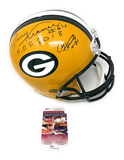 f4872c52f56 Amazon.com  Jerry Kramer Paul Hornung Green Bay Packers DUAL Signed  Autograph Full Size Helmet Inscribed JSA Witnessed Certified  Sports  Collectibles