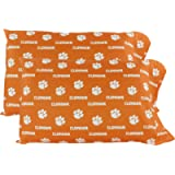 College Covers Clemson Tigers Pillowcase Pair - Solid (Includes 2 Standard Pillowcases)