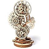 Ugears Steampunk Clock 3D Mechanical Model, Self-Assembling DIY Craft Set, Wooden Box School Project