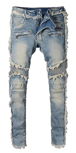 Amazon.com: Itemnew - Pantalones vaqueros para hombre con ...