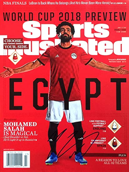 half off 6345a 48684 Mohamed Salah EGYPT LIVERPOOL World Cup Autographed Sports ...