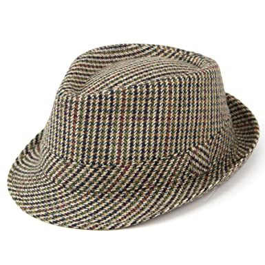 827f251e9717 Hawkins Classic Tweed Trilby Hat  Amazon.co.uk  Clothing