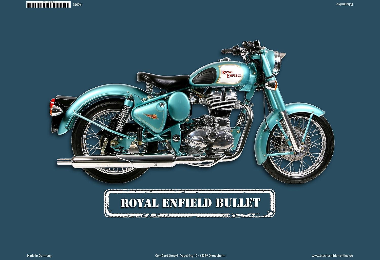 ComCard Royal Enfield Bullet Moto Plaque en tô le, Metal Sign Tin