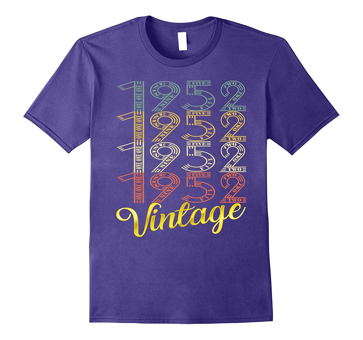 Vintage 1952 Gold 65 Years Old Fun 65th Birthday Shirt Gifts-TJ