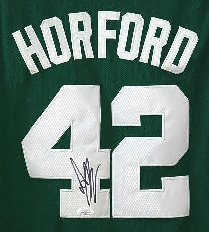 super popular 1473e 92a01 Al Horford Boston Celtics Signed Autographed Green #42 ...