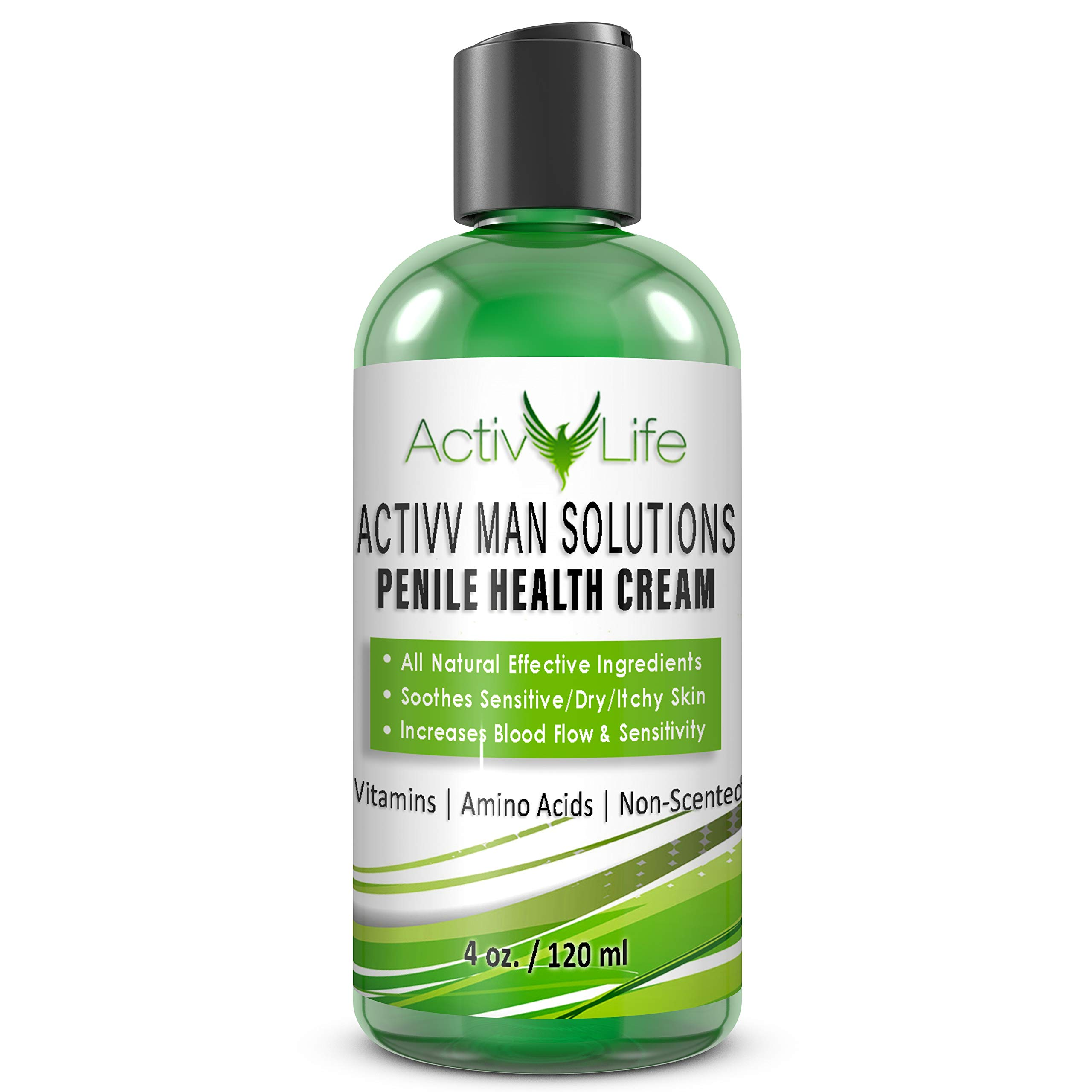 All Natural Penile Health Cream - Treat Irritated, Dry, or Cracked Skin - Find Relief from Chaffing, Eczema and Itching, Increase Penile Sensitivity and Smoothness by Activv Life