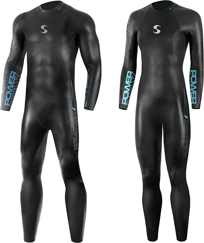 Synergy Triatl/ón Traje de neopreno de 3//2 mm Volution de manga completa para nataci/ón en aguas abiertas Ironman y aprobado por USAT