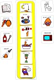 Plastic Visual ASD Evening Routine (Picture Communication Symbols PCS)