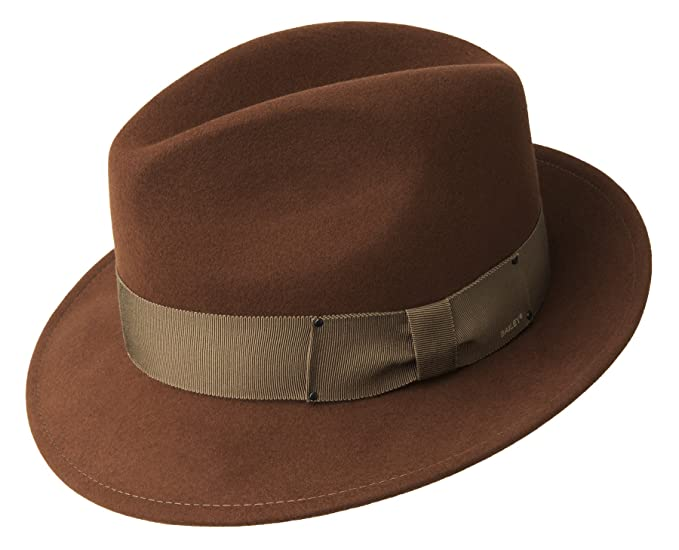2164d429213 Bailey Men s Fedora Hat Blixen - Brown S 54-55  Amazon.co.uk  Clothing