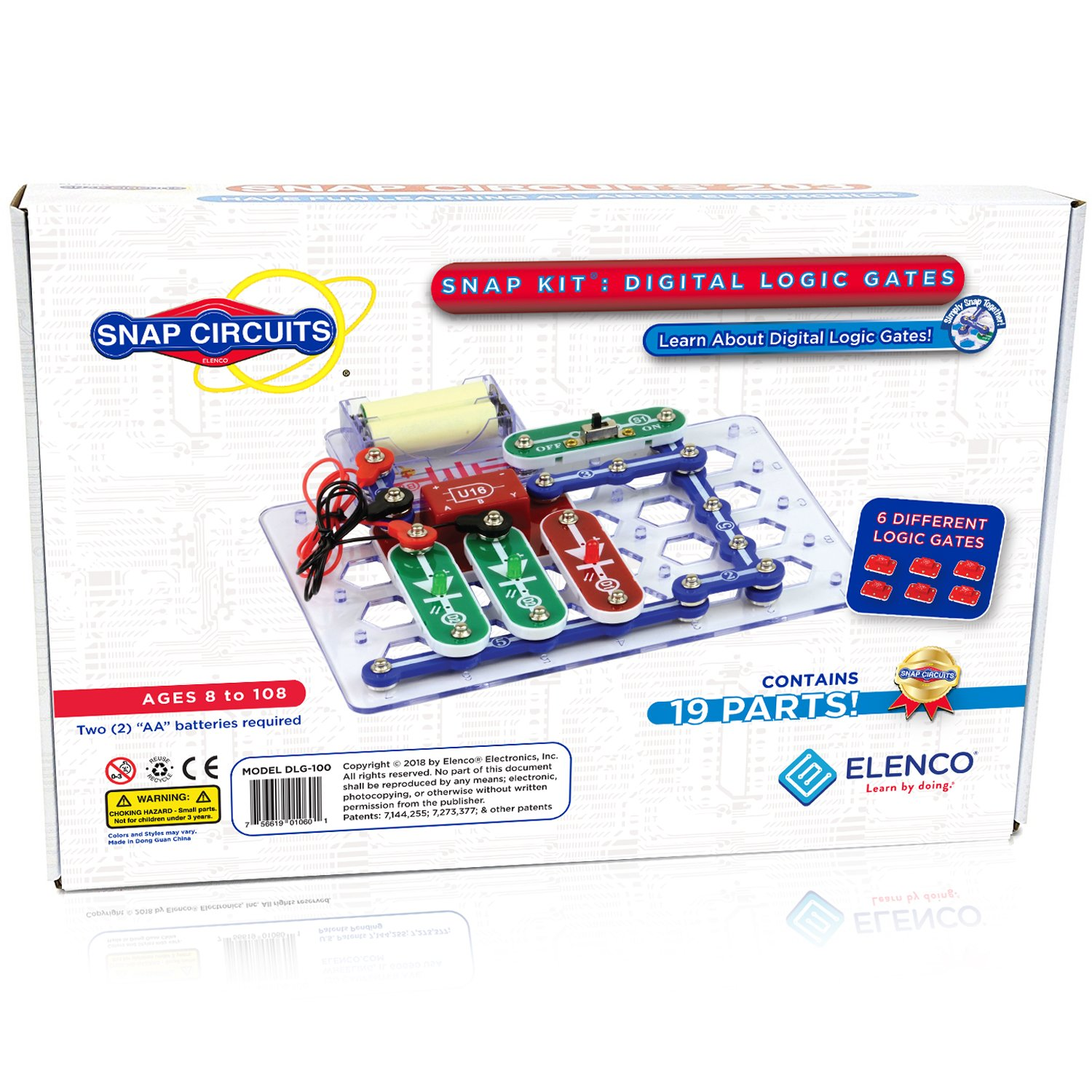 Snap Circuits Digital Logic Gates 100 Exploration Kit | 4-Color  Downloadable Project Manual | 13 Snap Modules | 6 Logic Gates | NOT Gate~AND Gate~OR Gate~NAND Gate~NOR Gate~XOR Gate | STEM Curriculum