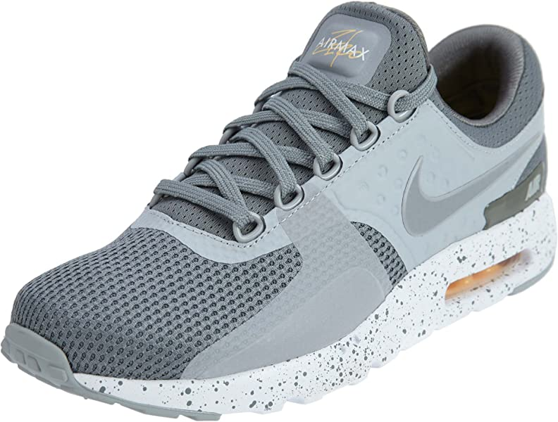 c6c3f170c8 Nike Mens Air Max Zero Premium Mesh Running Athletic Shoes Gray 8 Medium (D)