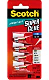 Scotch Super Glue Liquid, .07 Ounces (AD114), 4 Count