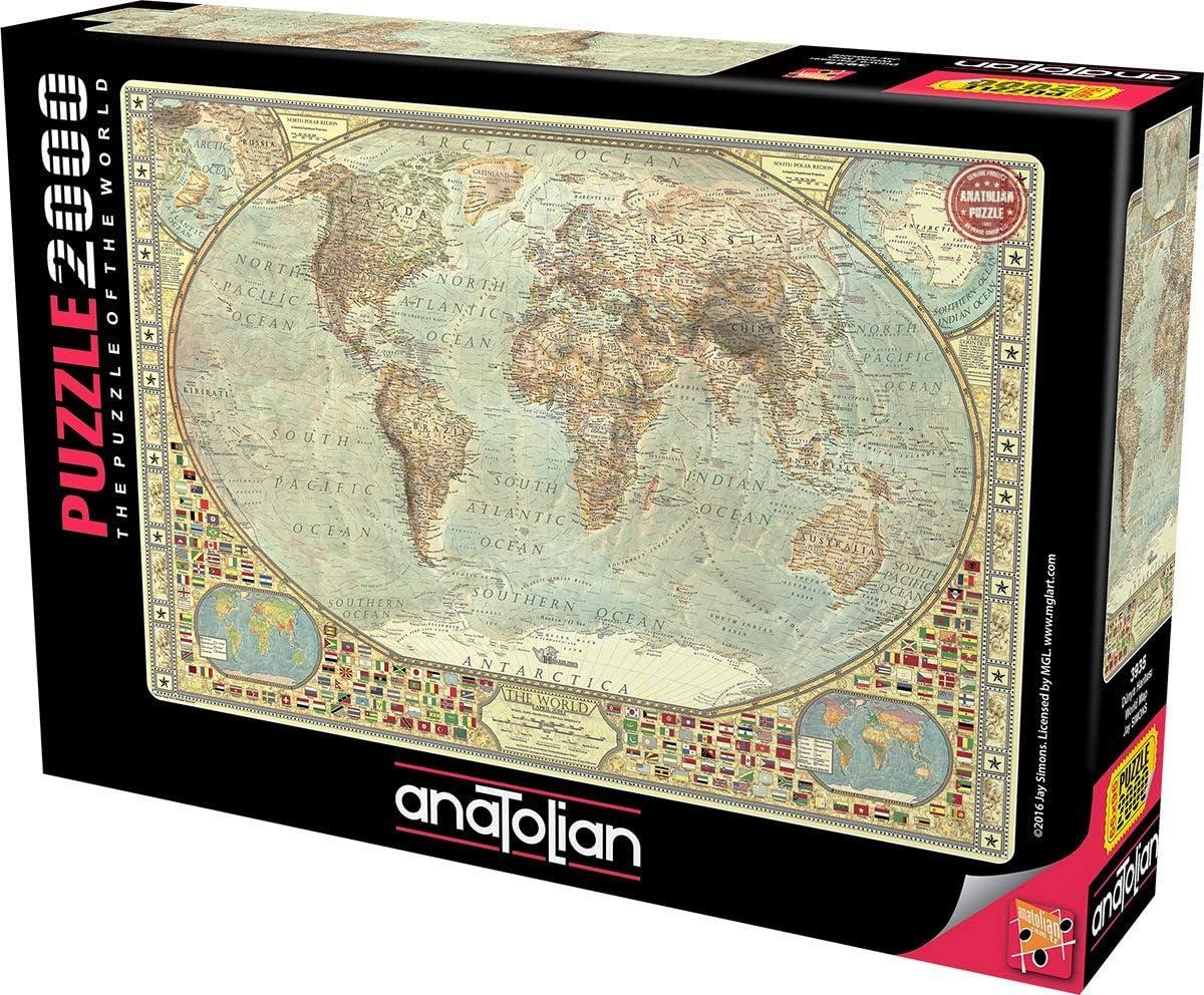 Anatolian 20Piece Jigsaw Puzzle   World Map
