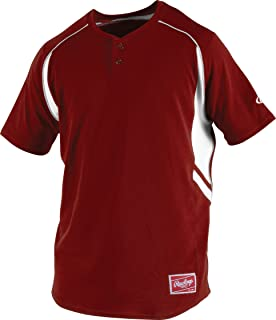 b67641b23 Amazon.com : Rawlings Men's 2-Button Jersey with Sublimated Sleeves ...