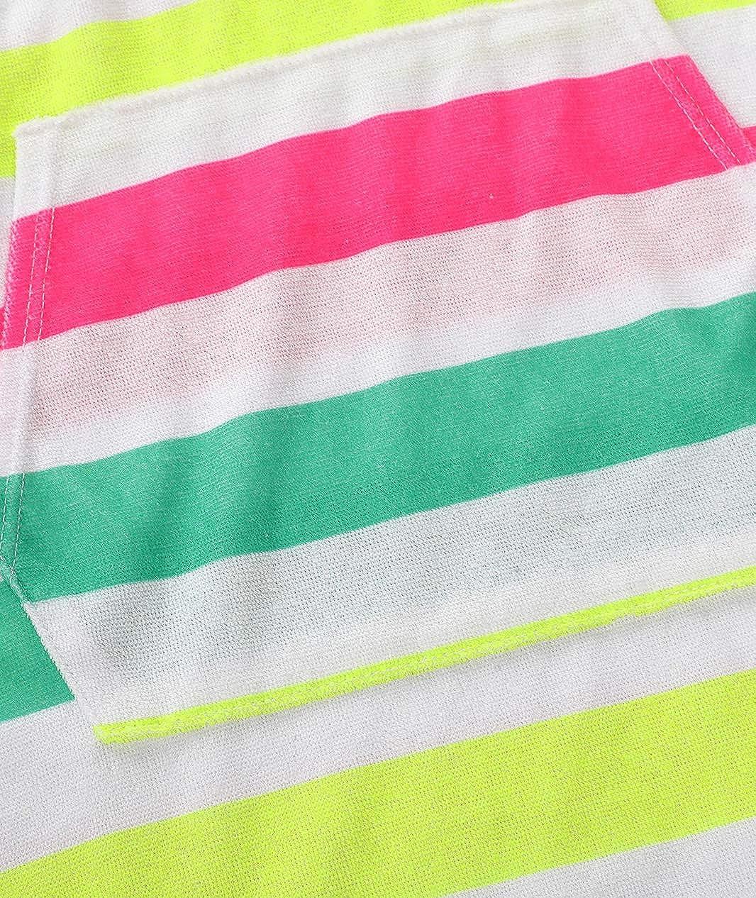 BELLOO Girls Short Sleeve Swim Robe Beach Cover Up with Zipper Bathrobe Size 6-16