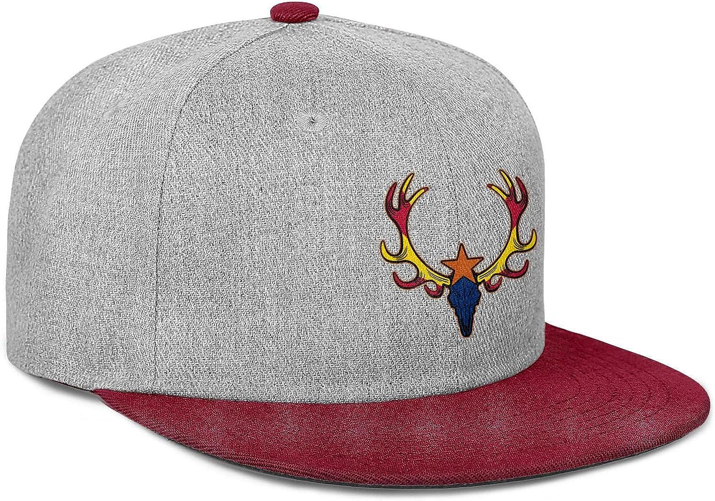 Men Womens Flat Hat Arizona State Skull Buck Star Flag Snapback One Size Cap
