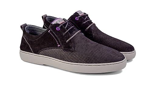 Meröhe - Zapatillas para Hombre de Piel Negras - Tallas 40 a 45: Amazon.es: Zapatos y complementos