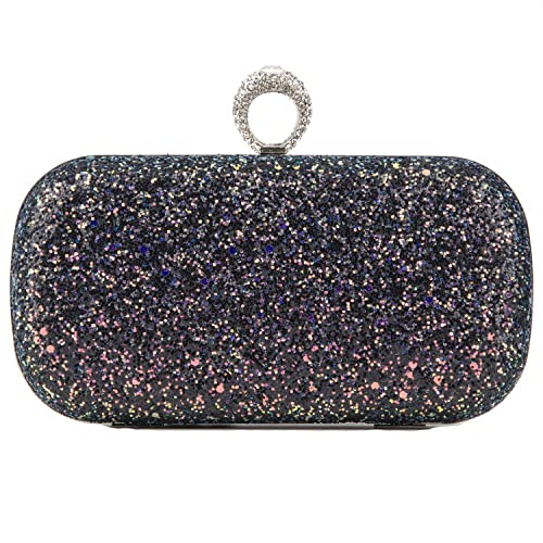 018ca20d19 Black Pink Evening Bags Glitter And Clutches for Women Dance Wedding Party  With Two Chain Strap