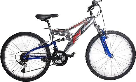 Bicicleta de 24 pulgadas con doble amortiguador, 18 V, aluminio ...