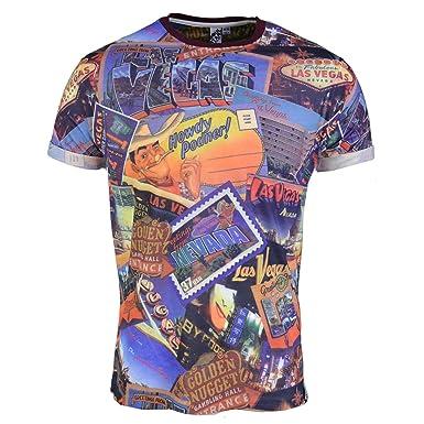 406ca026a Soul Star Men's Tshirt Tee T Shirt Las Vegas USA Graphic Photo Print Slim  Fit Casual