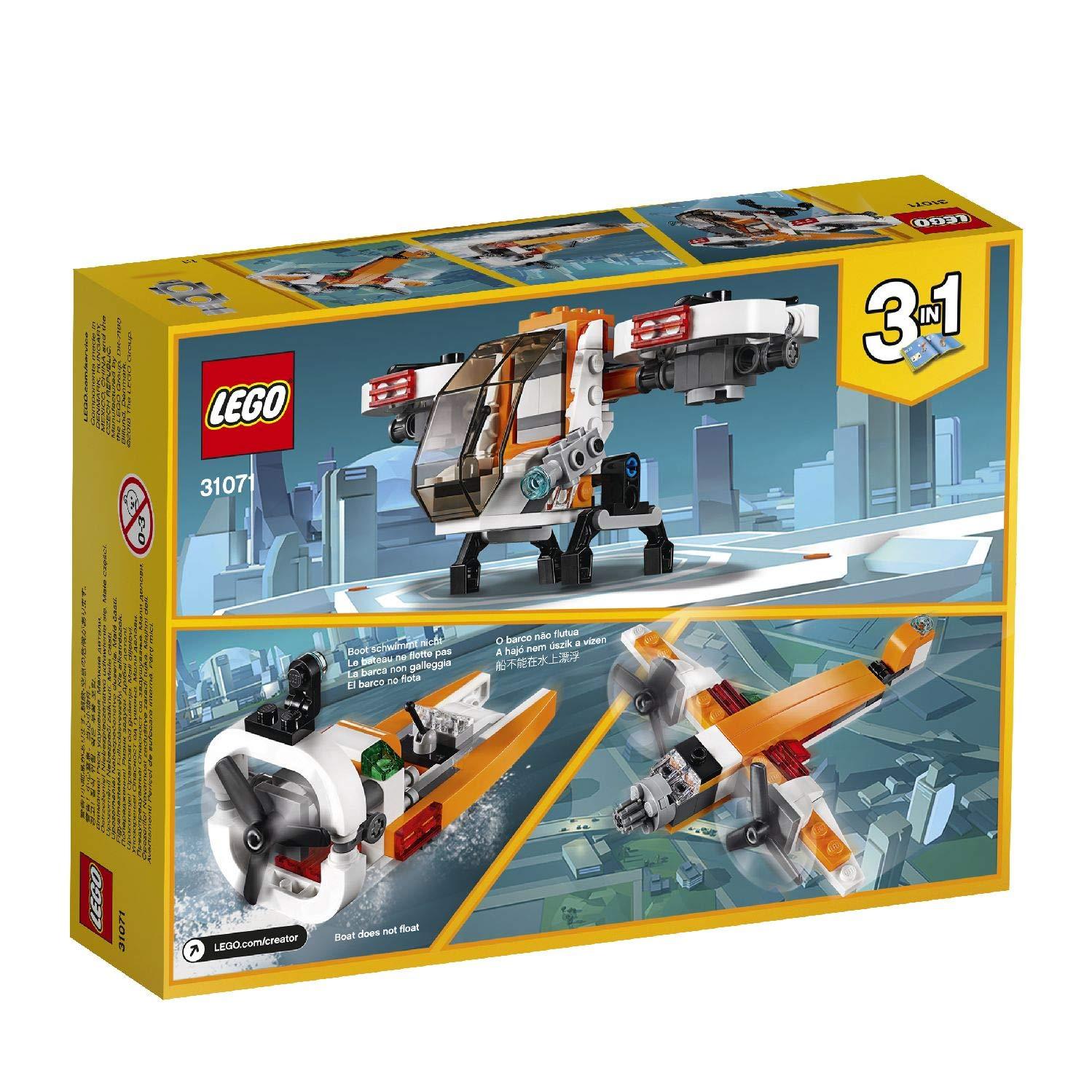 LEGO Creator - Dron de Exploración, Juguete de Construcción 3 en 1 ...