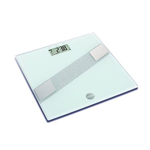 Báscula de Baño Digital de Alta Medición Precisa, Bascula Grasa Corporal, Balanza Digital Baño, Análisis Corporal de11 Funciones, 150 kg, blanco