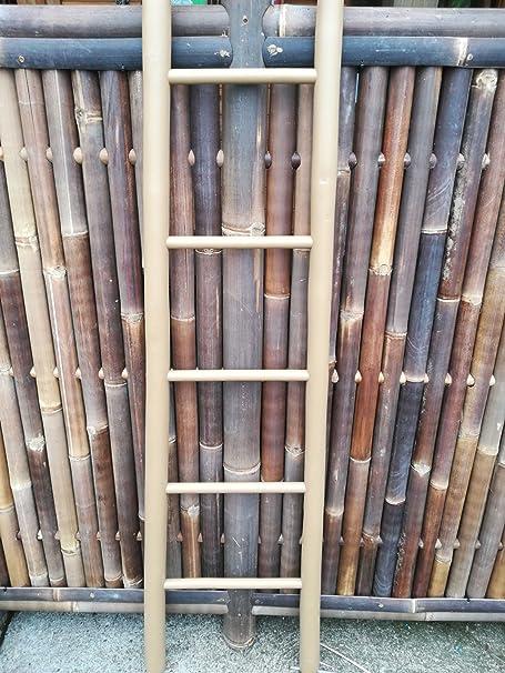 Bambus-Internethandel Leipzig Bambú Escalera cappucion Escalera toallero bambú 180 cm x 48/34 cm: Amazon.es: Hogar