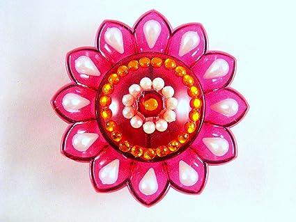 Amazon com: Sarvam Flower Shaped Kankavati Kanku Chawal Sindoor Dani