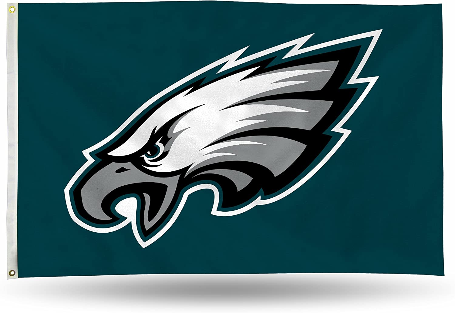 NFL Philadelphia Eagles 3-Foot by 5-Foot Single Sided Banner Flag with Grommets