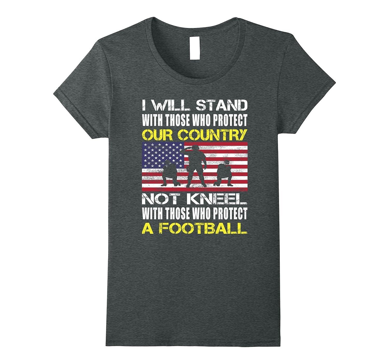 Distressed Stand American Shirt Heather-Awarplus